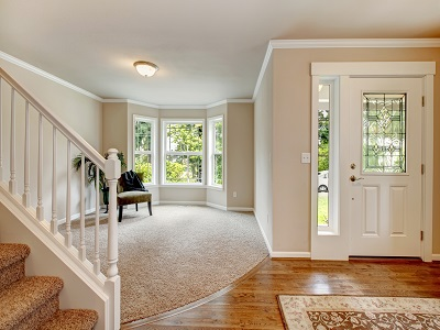 Silk Paint Sheen Finish - Foyer - Family Room - Beige - ProTEK Painters Newton MA 400x300