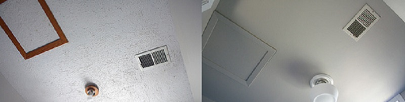 Popcorn Ceiling Removal - Before and After - ProTEK Painters - Newton, MA
