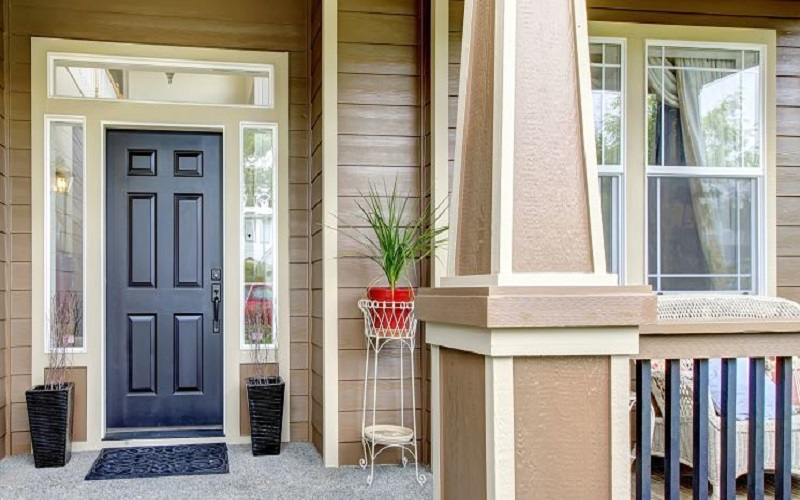 Black Front Door - Exteriot Paint Ideas - ProTEK Painters Newton MA 800x500