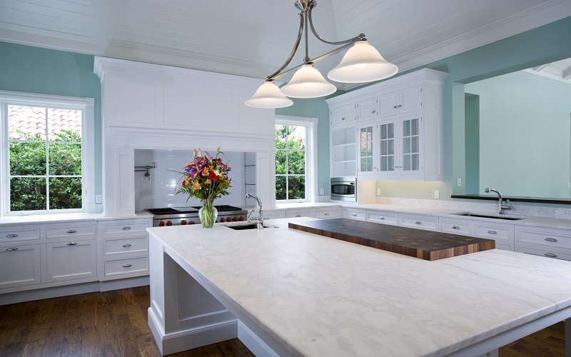 Green and White Kitchen Paint Colors - ProTEK Painters, Newton MA
