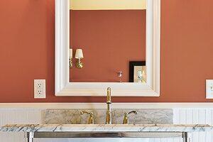 Bathroom Paint Colors - SW Cavern Clay - ProTEK Painters - Newton, MA