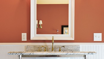 Bathroom Paint Colors - SW Cavern Clay - ProTEK Painters - Newton, MA
