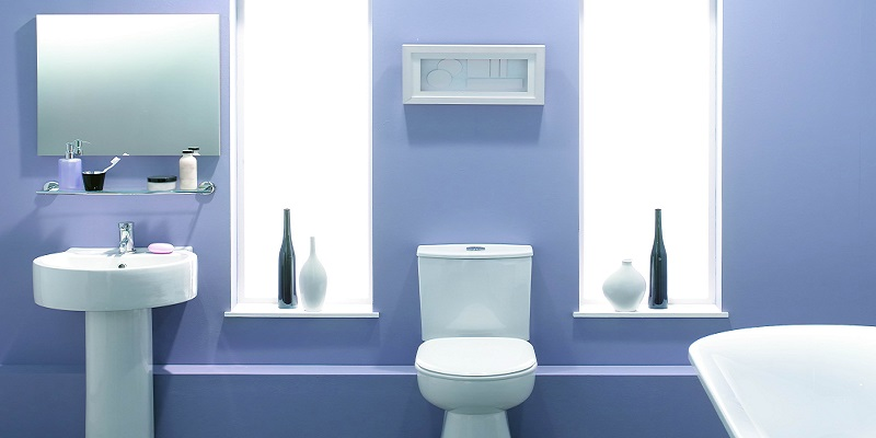 Bathroom Painting - Blue Purple - Newton MA - ProTEK Painters