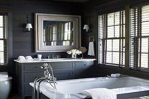 Black walls create an opulent and elegant look