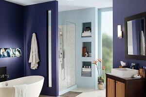 Purple Bathroom Painting - ProTEK Painters - Newton MA