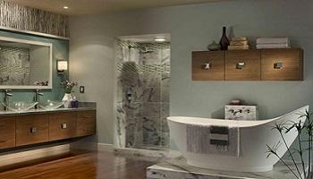 Venus Teal Behr Bathroom Painting - ProTEK Painters - Newton MA 350x200