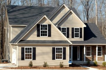 Exterior Painting - ProTEK Painters - Lexington, MA - Two story taupe black shutters brick