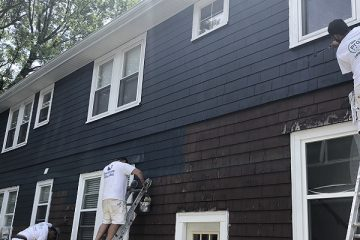 Exterior House Painting Services - Newton, MA - House Painters Working - ProTEK Painters 800x400