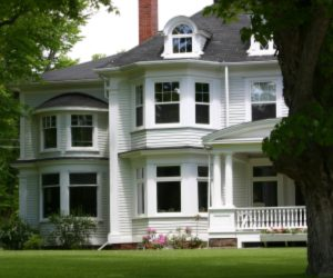 Exterior Painters - ProTEK Painters - Weston, MA - Historic White Two Story House