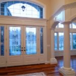 Interior Painting - ProTEK Painters - Newton, MA - Entryway Etched Glass White Double Door Pillars Windows