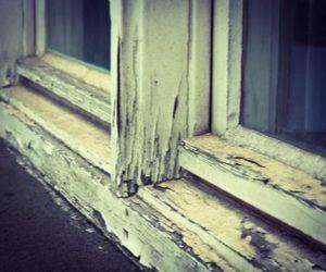 Painting Window Frames - ProTEK Painters - Waltham, MA - Old cracking peeling window frame