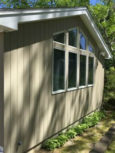 AFTER - Exterior Painting Contractor - ProTEK Painters - Needham, MA - After tan house with cathedral window