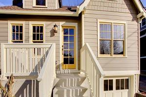 Yellow Trim - Beige Exterior - ProTEK Painters - Newton, MA