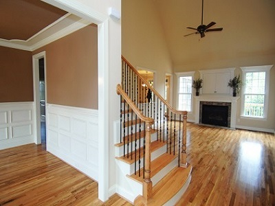 Interior Painting - ProTEK Painters - Newton Centre, MA - Open Entry and Living Room White Trim