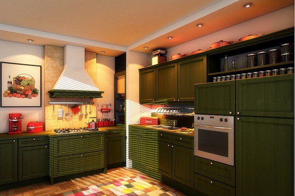 Cabinet Painters Used Olive Green