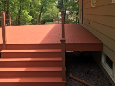 AFTER Deck Staining and Sealing - Newton MA - ProTEK Painters 600x400