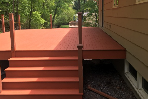 AFTER Deck Staining and Sealing – Newton MA – ProTEK Painters 600×400
