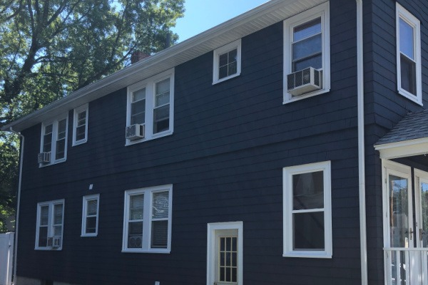 AFTER – Repaint Exterior to Black with White Trim – Newton MA – ProTEK Painters