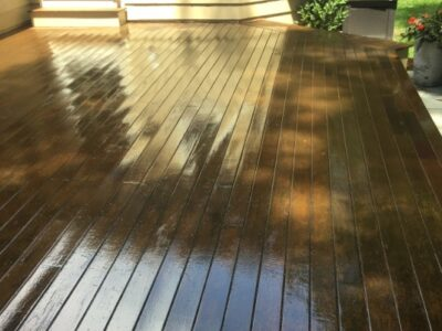 AFTER deck stain and seal - Newton MA - ProTEK Painters 600x400