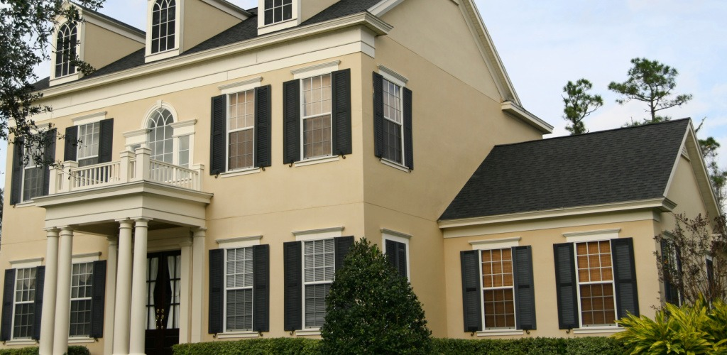 Exterior Painting Near Newton MA - Beige Siding Black Trim - ProTEK Painters 1024x500