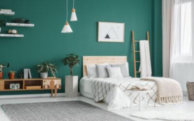 Bedroom Painting - Teal Green Walls - Newton MA - ProTEK Painters 400x250