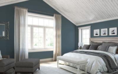 Dark Blue Gray Bedroom Walls - Newton MA - ProTEK Painters