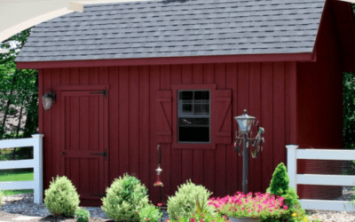 Red Barn Shed Painting - White Fence Painting - Newton MA - ProTEK Painters