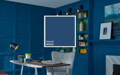 Living Room Painting-Indigo is striking in the living room-Interior Painting-ProTEK Painters