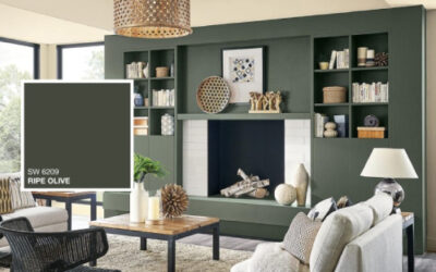 Living Room Painting-Ripe Olive in the living room-Interior Painting-ProTEK Painters