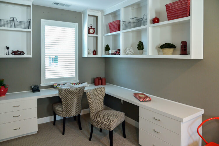 Home Office Painting-Greige is a great neutral choice-Interior Painting-ProTEK Painters